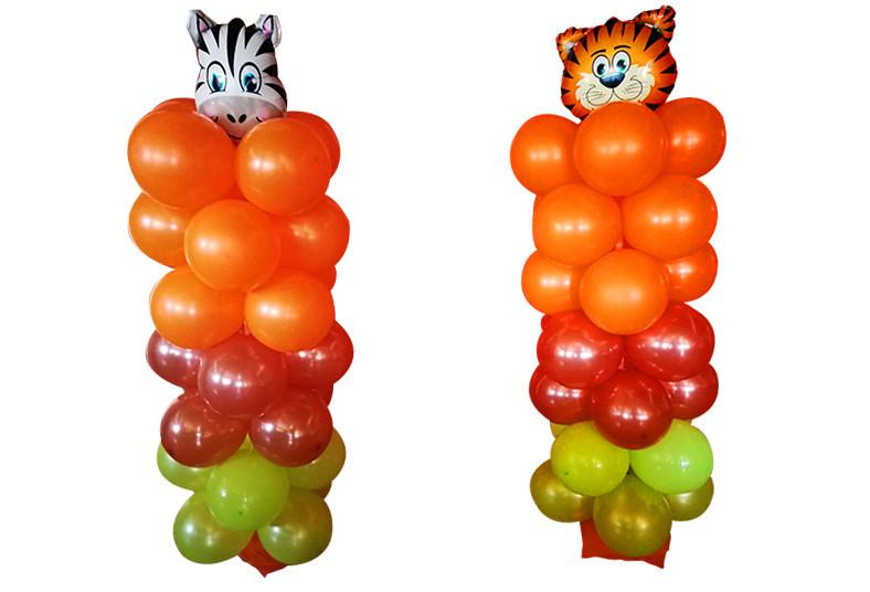 Ideas, KDMJ, arco, torre, globos, personaje, color, favorito, fiesta, decoración