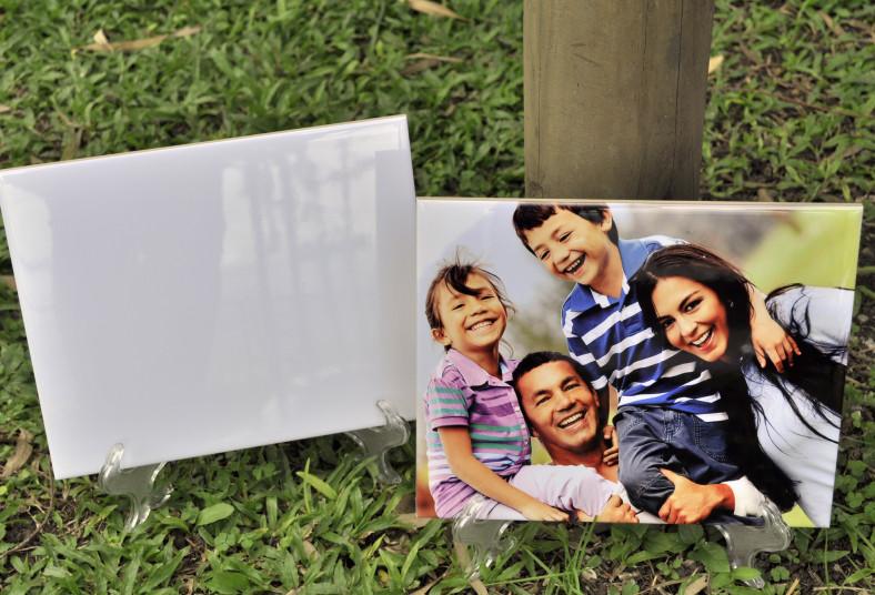 printtico, cerámica, personalizada, fotografía, base de acrílico, regalo, color