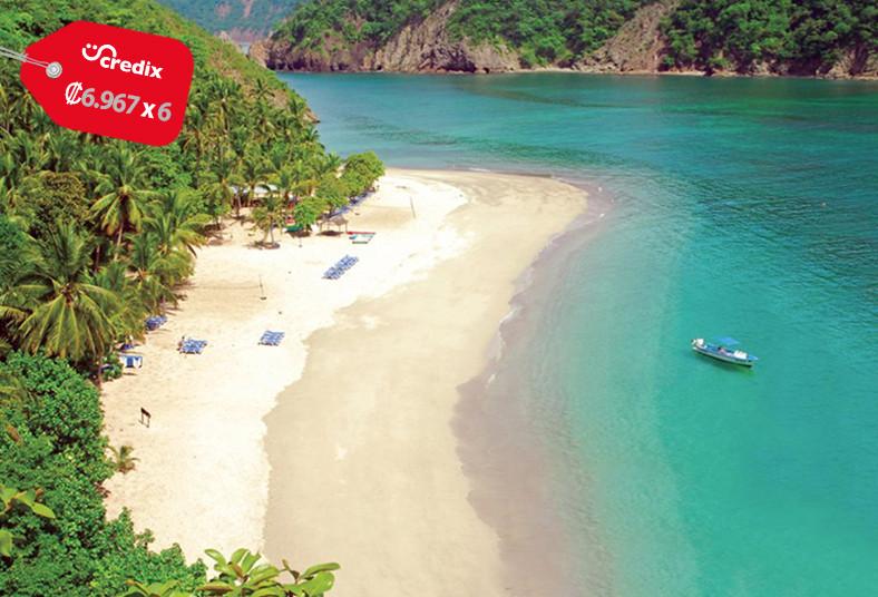 catamarán, alba, tour, isla, san, lucas, tortuga, paseo, familia, frutas, comida