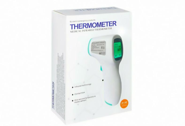 algo, bonito, termómetro, digital, GP-300, infrarrojo, temperatura, objetos,