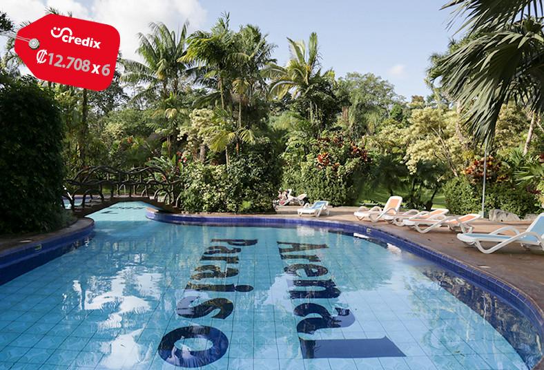 hotel, arenal, paraíso, resort, spa, piscina, restaurante, descanso, fortuna