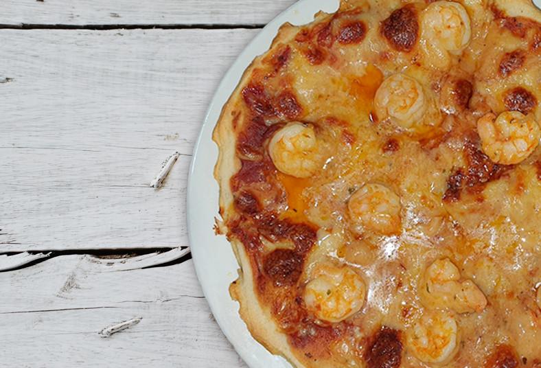 Restaurante, Rancho, Arizona, pizza, grande, premium, camarones, porciones, doce