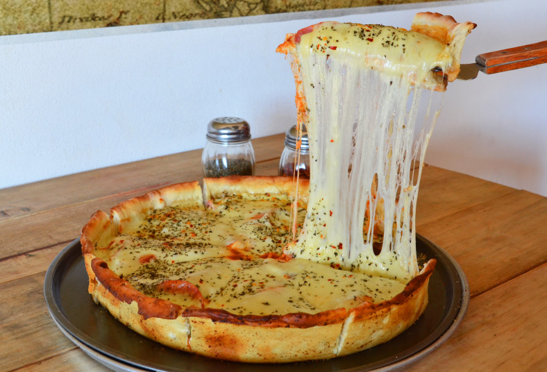 El, Barco, Pirata, Pizza, Pub, estilo, chicago, gran, suprema, queso, pasta