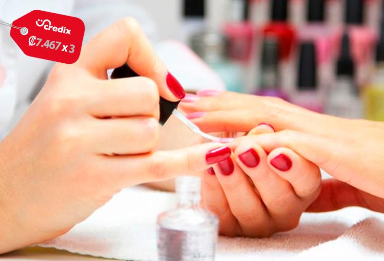 bel, amour, salon, manicure, exfoliación, pies, esmaltado, corte, puntas, split