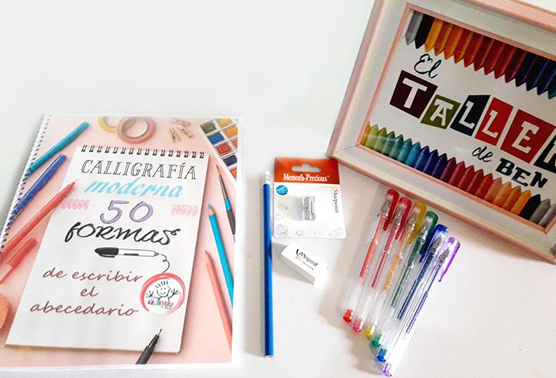 taller, ben, kit, lettering, principiante, intermedio, libro, lápiz, grafito,