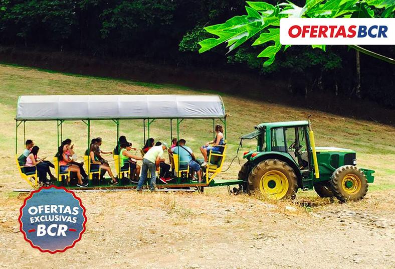 hotel, bosque, hospedaje, piscina, natural, tour, tractor, almuerzo, fogata,