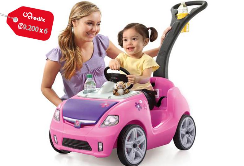 Jugueterías, TOYS, buggy, rosado, empujar, whisper, ride, cinturón, ruedas, niña