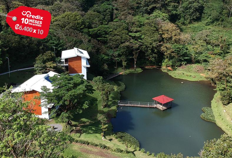 Burbi, Lake, Lodge, senderos, monteverde, desayuno, pareja, lago, volcán, flora