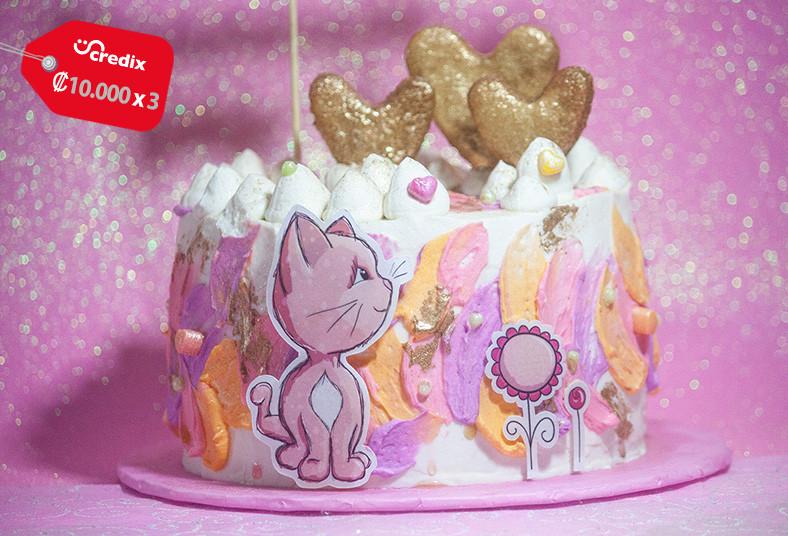 dolce, amaretto, queque, cumpleaños, cupcakes, fresas, gelatina, celebración,