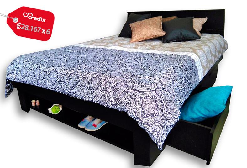 Obten una hermosa cama individual o matrimonial con for Cama matrimonial con cama individual abajo