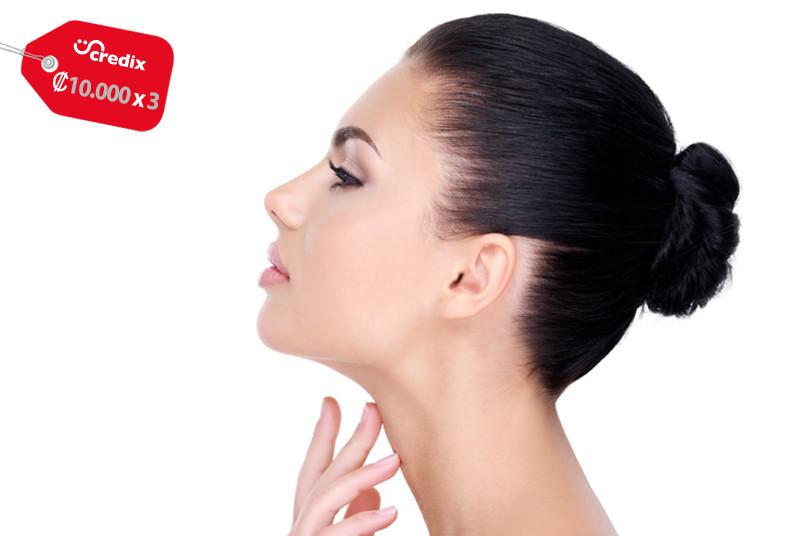 cambio, integral, spa, disminución, papada, yesoterapia, cuello, exfoliación,