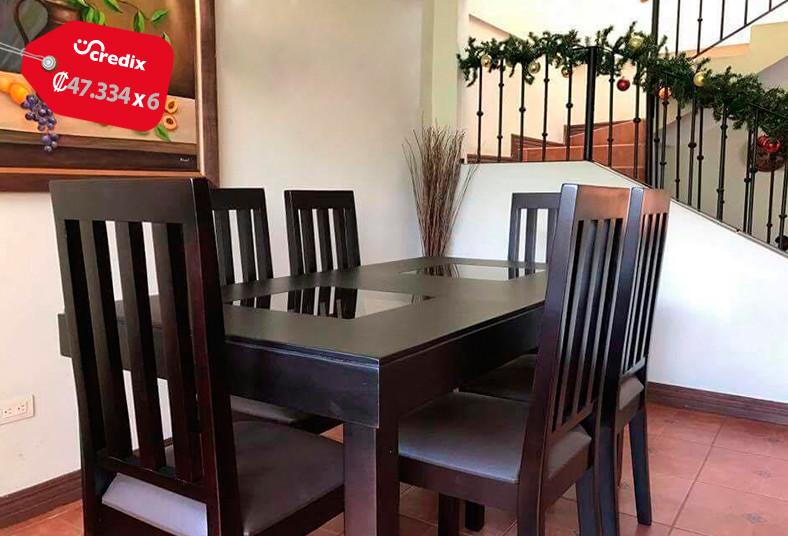 Obten un juego de comedor de 6 sillas 4 sillas y for Comedor pequea o 4 sillas
