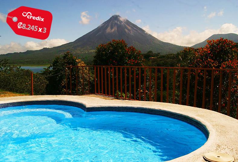 hotel, castillo, arenal, fortuna, san, carlos, vacaciones, volcán, desayuno