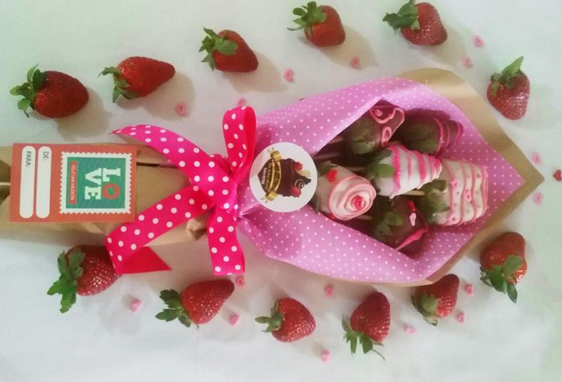 choco, arte, fiesta, fresas, chocolates, ramo, bouquet, día, amor, amistad,