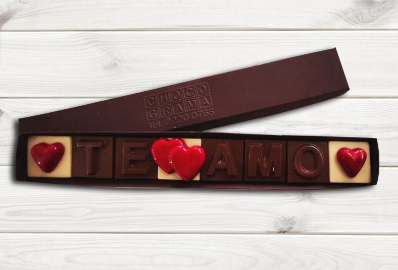 Chocograma, chocolates, dulce, regalo, valentín, enamorado, especial, detalle