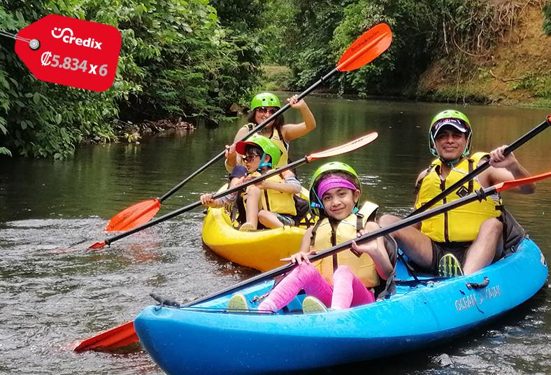 cinco, ceibas, tour, kayak, caballo, bote, caminata, almuerzo, refrigerio, paseo