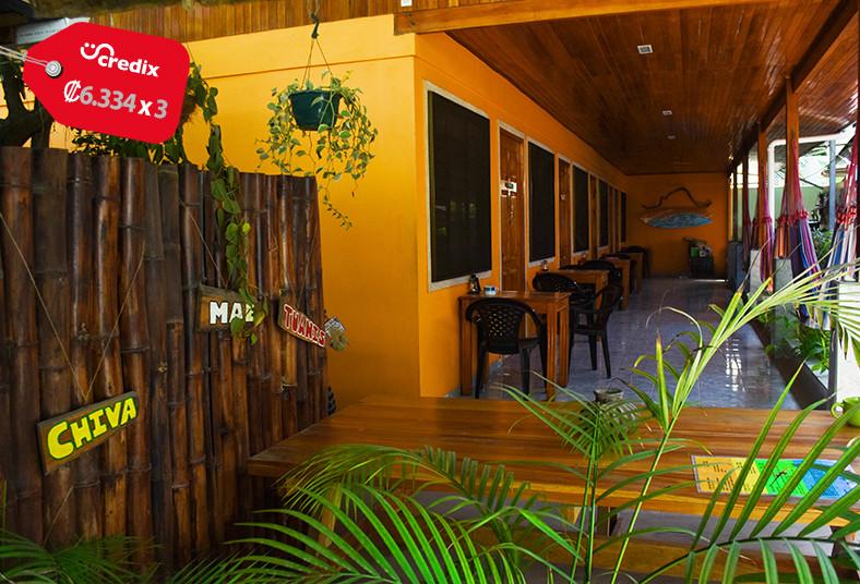 Cocobolo, Guest, House, playa, teresa, abanico, aire, acondicionado, cóbano