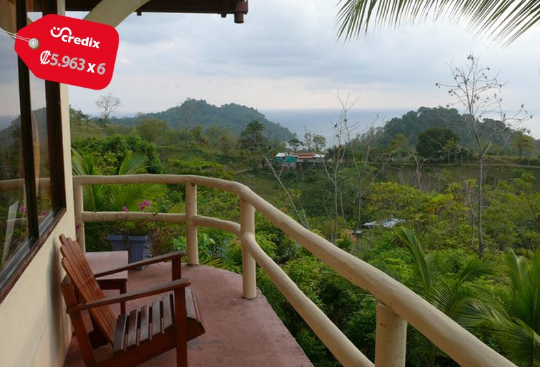 hotel, colina, ocean, view, desayuno, familia, pareja, manuel, antonio, playa