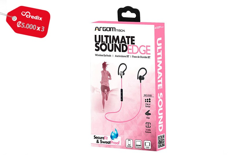 compured, internacional, audífonos, argom, ultimate, sound, edge, agua, resistir