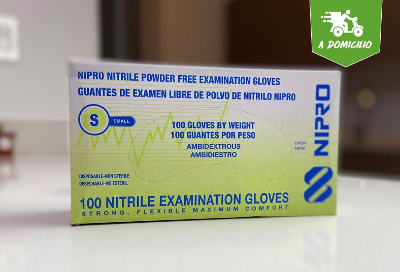 Distribuidora, Luasima, guantes, nitril, tamaños, borde, enrollado, ambidiestros