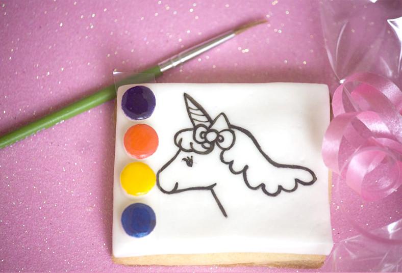 dolce, amaretto, galletas, día, niño, pintar, estrellas, pincel, paleta, colores