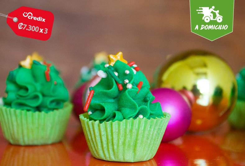 dolce, amaretto, mini, cupcakes, arbolitos, galletas, jengibre, reno, chocolate