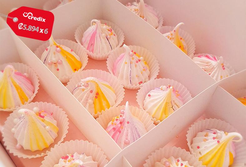 dolce, amaretto, cupcakes, brownies, suspiros, mini, postres.