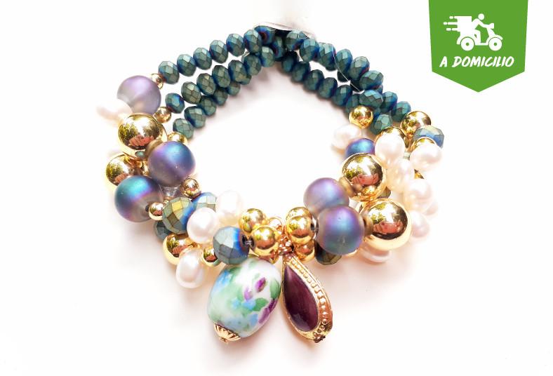 joyería, emilia, rodríguez, brazalete, aretes, multicolor, regalo, accesorios,