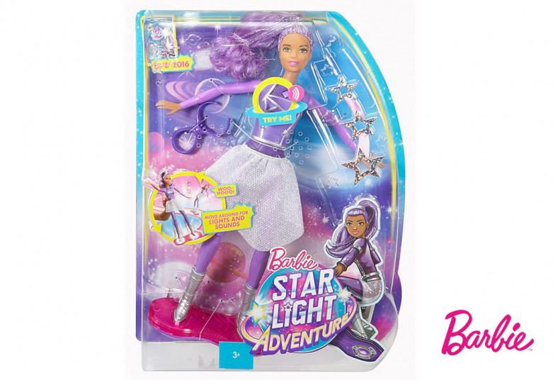 Jugueterías, TOYS, barbie, mattel, patinadora, espacial, luces, sonidos, rojo,