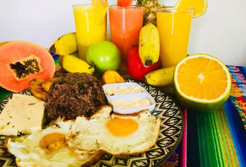ceviche, peruano, express, desayuno, típico, jugo, naranja, queso, natilla, café