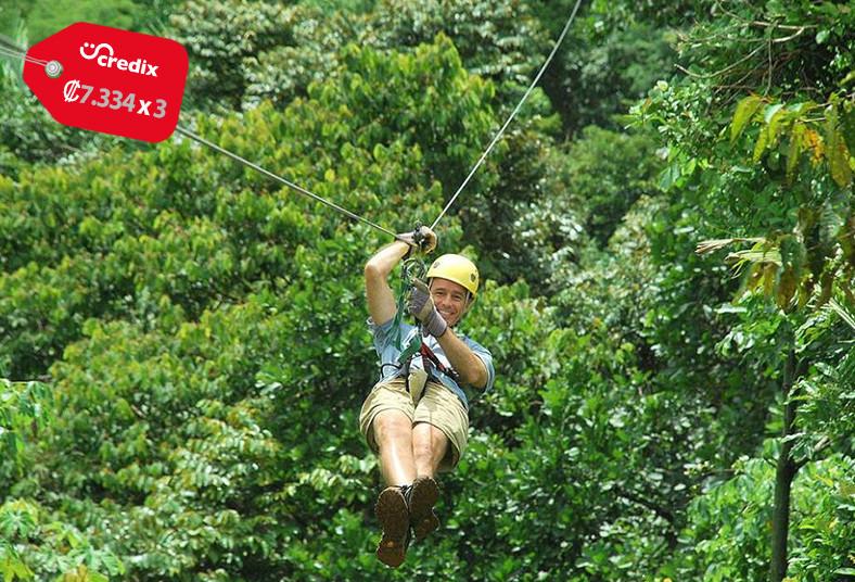 Titi, canopy, quepos, canopy, rappel, tarzan, swing, alimentación, antonio