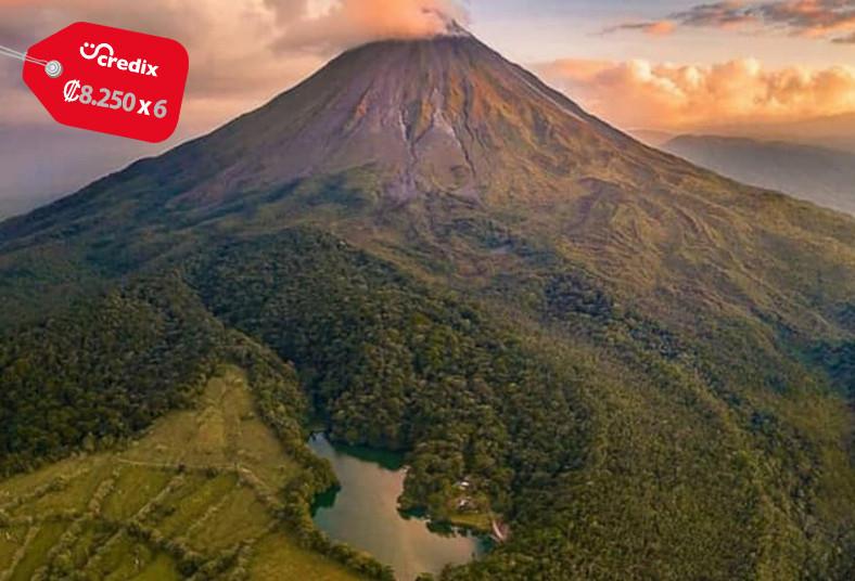 Hotel, Fortuna, Suites, vista, volcán, superior, desayuno, parque, springs