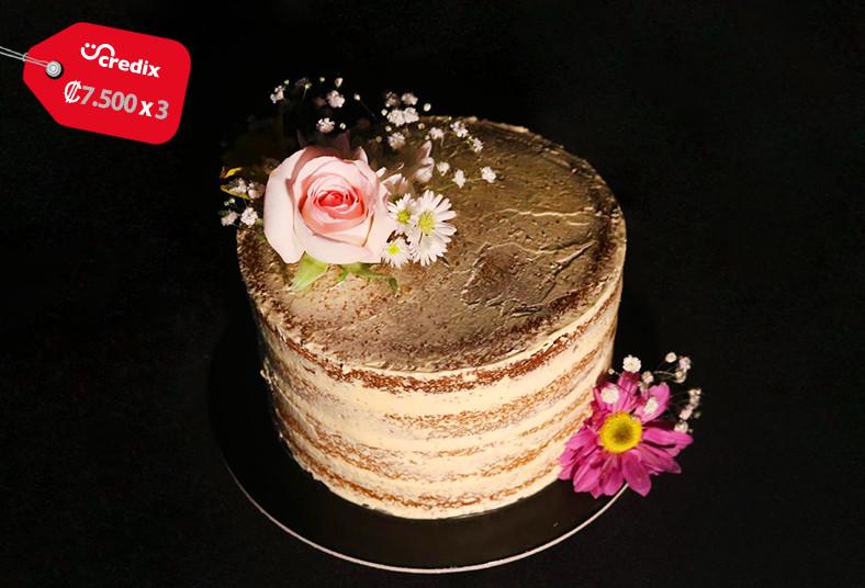 Gabri's, Cakes, pastel, vainilla, relleno, dulce, leche, madres, naked, cake