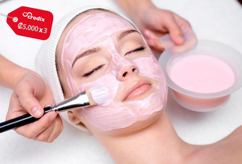 gaby, center, limpieza, facial, exfoliante, loción, contorno, mascarilla, crema