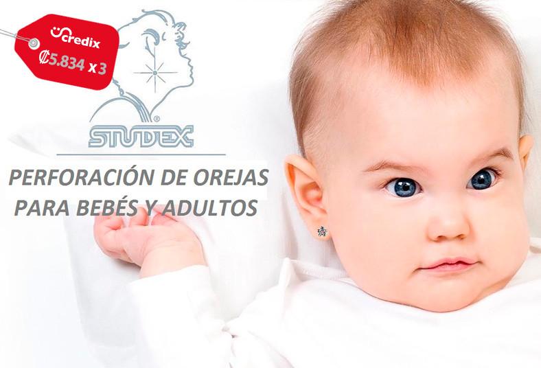 Distribuidora, G.K. S.A., perforación, aretes, studex, oro, acero, bebés, adulto