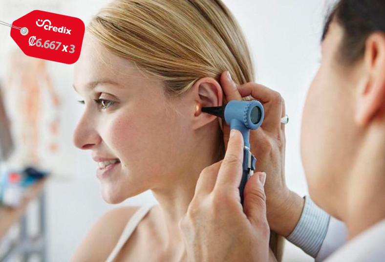 global, med, consulta, médica, general, electrocardiograma, lavado, oídos, salud