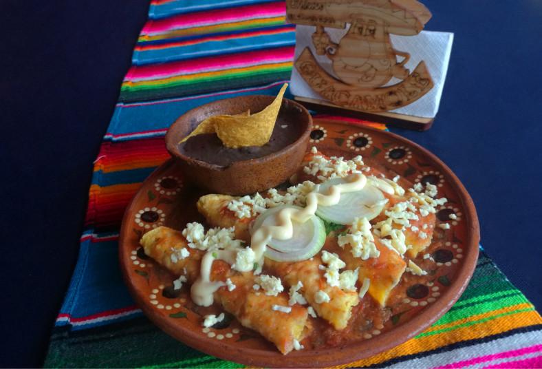 Antojate De Mexico Sopa Azteca Grande O 4 Enchiladas Rojas A Solo