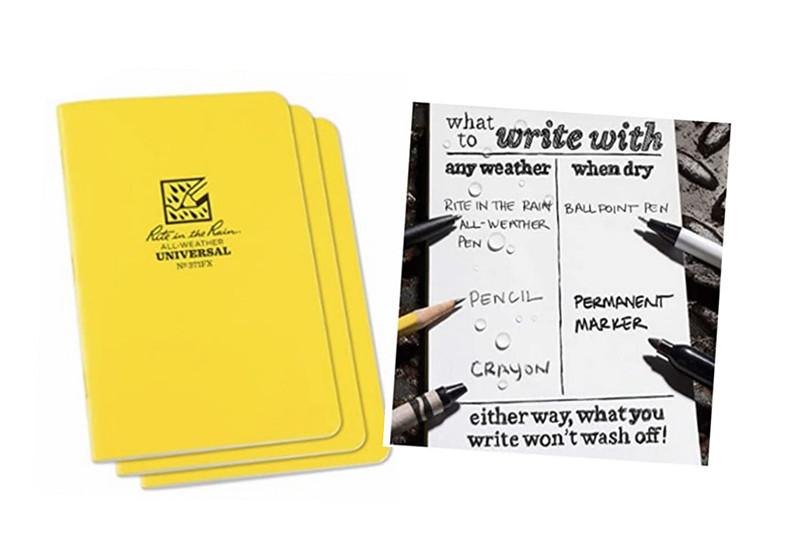 GyR, Grupo, Asesor, libretas, escritura, bajo, lluvia, grapas, páginas, rite,