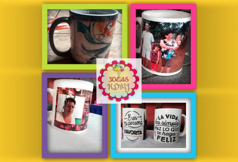 Ideas, KDMJ, taza, blanca, mágica, personalizada, foto, dibujo, caricatura,