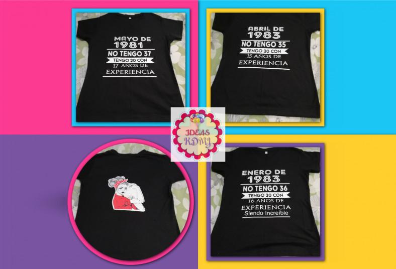 Ideas, KDMJ, camisa, blanca, negra, color, personalizada, algodón, poliéster,