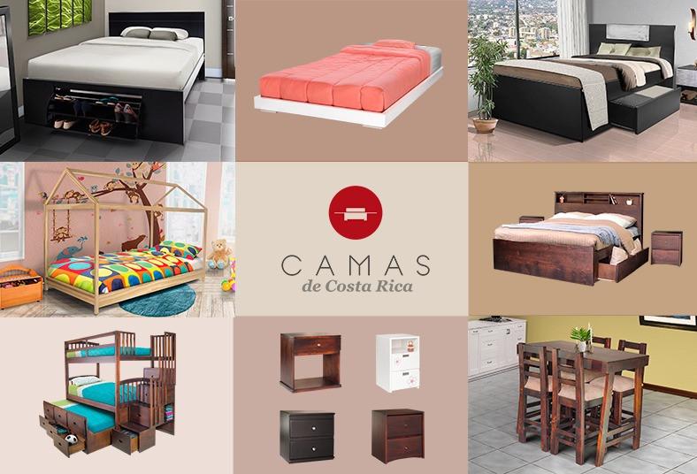 camas, costa, rica, coqueta, mei, banquito, espejo, gavetas, color, negro, madre