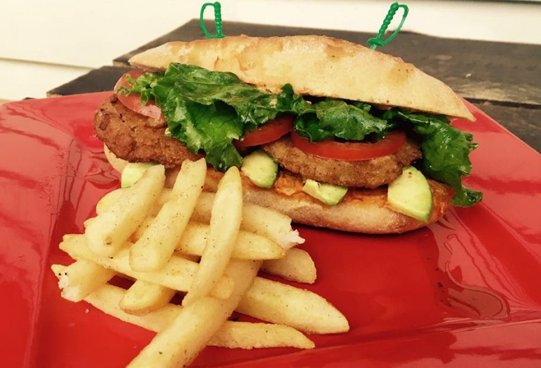 Taller, Gastronómico, hamburguesa, pollo, Teriyaki, sándwich, hongo, ostra, rice