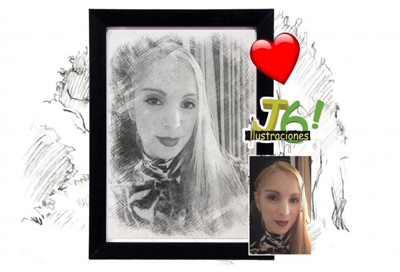 J6, Ilustraciones, foto, manipulación, efecto, boceto, impresión, portarretrato,
