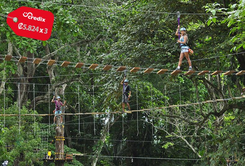 jaco, ropes, tour, cuerdas, altas, puentes, colgantes, líneas, canopy, rapel,
