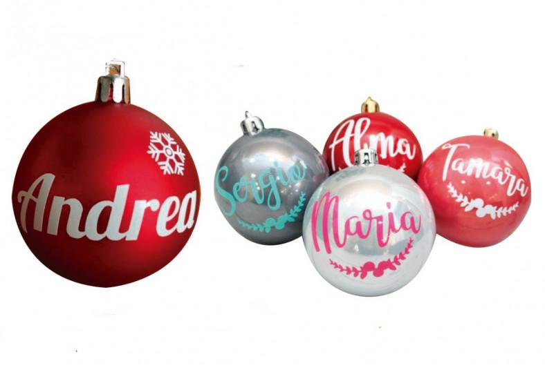Jasa, Designs, Productions, esferas, navidad, personalizadas, nombre, lacito,