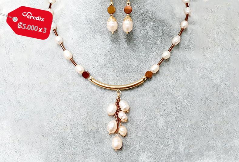 joyería, emilia, rodríguez, collar, perlas, cultivadas, oro, aretes, regalo, día