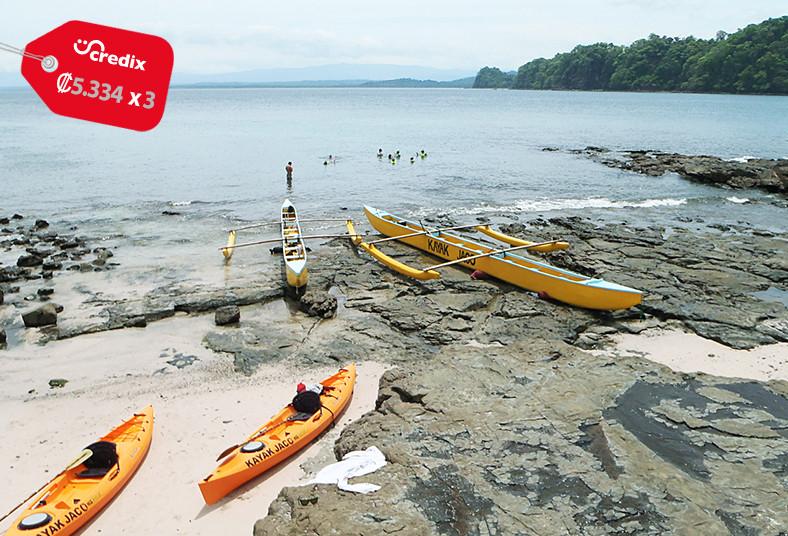 kayak, jaco, playa, agujas, canoas, tour, instalaciones, agua, frutas, parqueo,