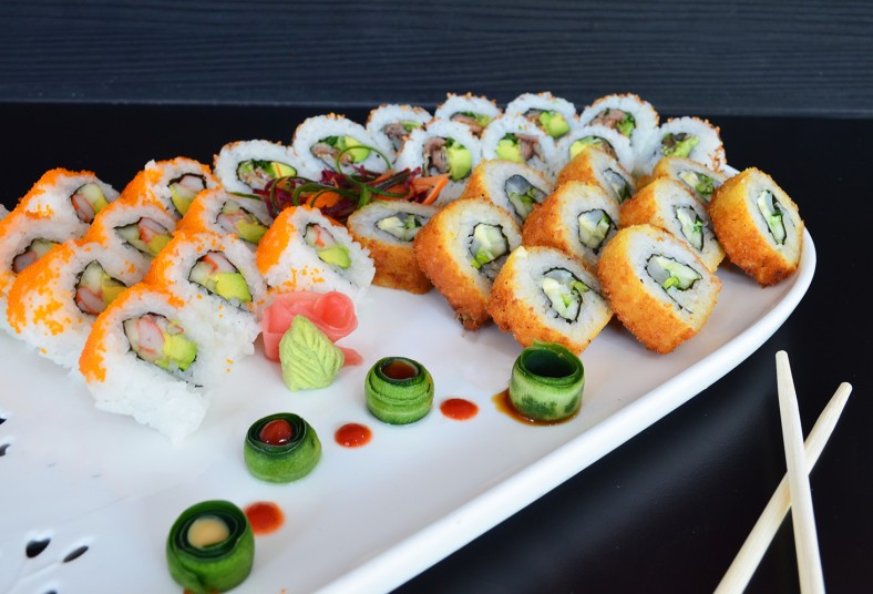 sushi, king, art, tunanachos, california, salmón, panko, especial, wantan, rollo