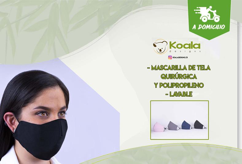 Koala, Designs, mascarilla, ergonómica, doble, capa, adultos, niños, coronavirus