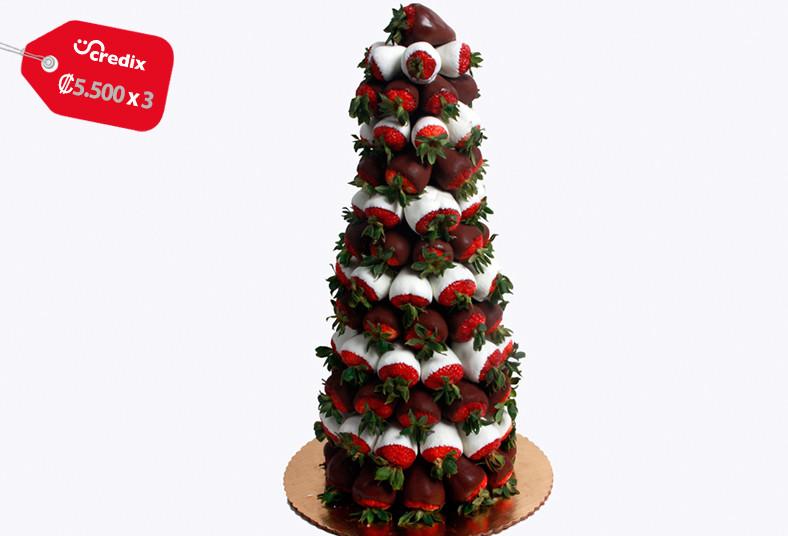 le, fontié, torre, fresas, marshmellows, suspiros, cubiertos, chocolate, evento